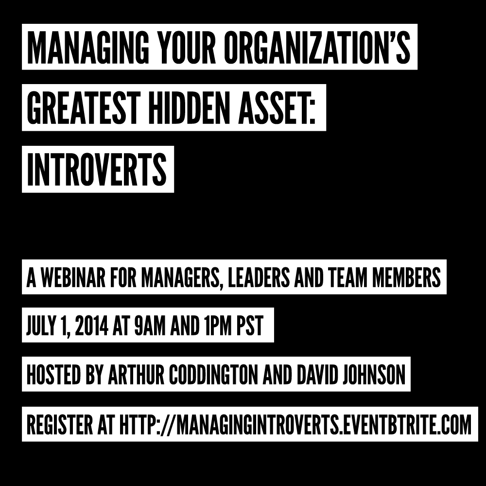 managing introverts webinar on july 1, 2014